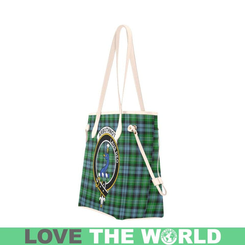 Arbuthnott Tartan Clan Badge Clover Canvas Tote Bag C33 Bags