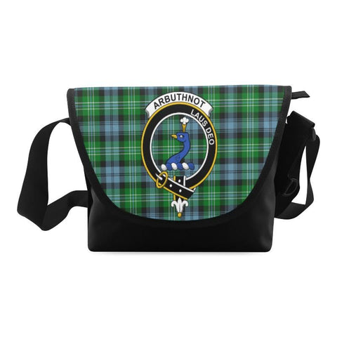 Image of ARBUTHNOTT TARTAN CLAN BADGE CROSSBODY BAG NN5