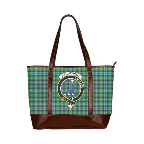 Arbuthnott Tartan Clan Badge Tote Handbag Hj4 Handbags