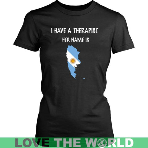 Image of Argentina Is My Therapist T-Shirt P1 District Unisex Shirt / Royal Blue S T-Shirts
