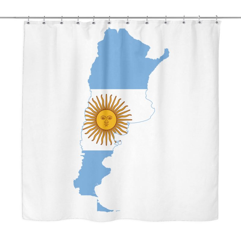 Argentina Map Shower Curtain X1 1 Curtains