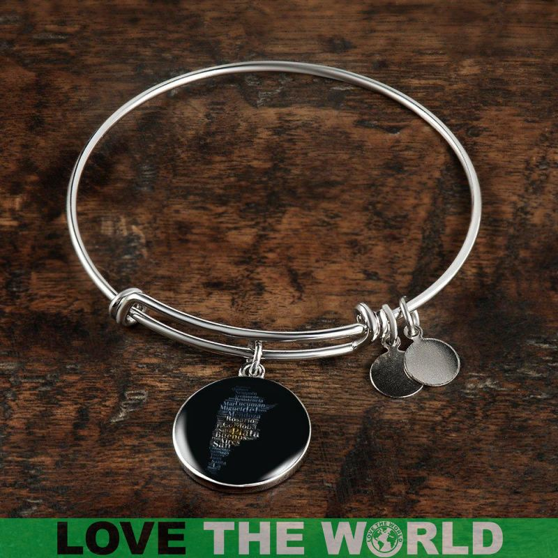 Argentina Texting Map Bangles A9 Bangle-Bracelet Adjustable