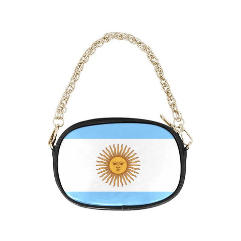 Argentinas Sun Of May One Side Chain Purse Th7 One Size / Black Purses