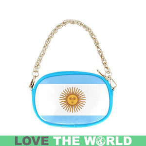 ARGENTINA'S SUN OF MAY ONE SIDE CHAIN PURSE TH7