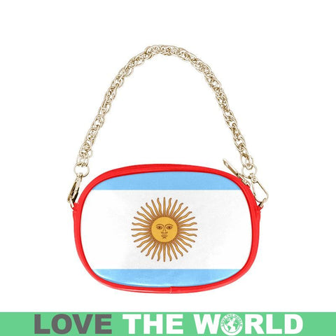 Image of Argentinas Sun Of May One Side Chain Purse Th7 One Size / Black Purses