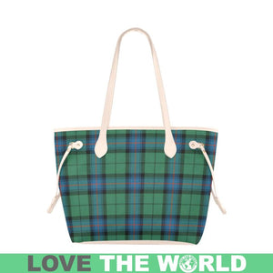 Armstrong Ancient Tartan Handbag - Tartan Clover Canvas Tote Bag NN5