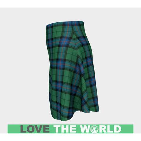 Tartan Skirt - Armstrong Ancient Women Flared Skirt A9 |Clothing| 1sttheworld