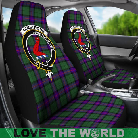 Image of Armstrong Clan Badge Tartan Car Seat Cover Ha5