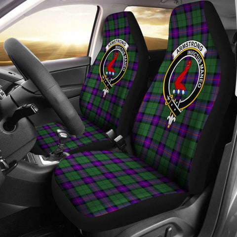 Armstrong Clan Badge Tartan Car Seat Cover