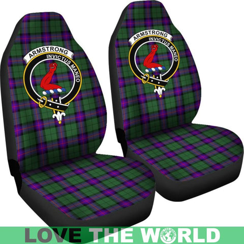 Armstrong Clan Badge Tartan Car Seat Cover Ha5