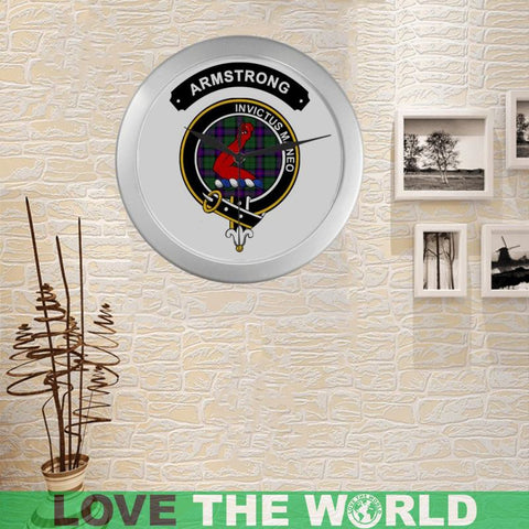 Armstrong Clan Tartan Wall Clock  - Love The World