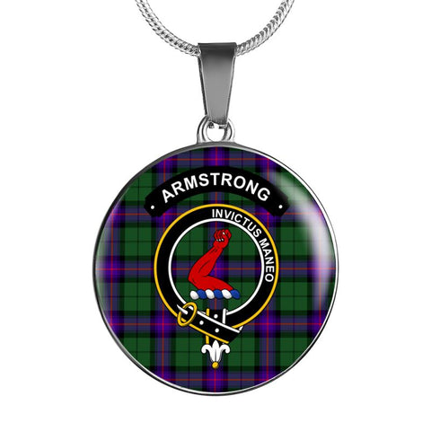 Armstrong Clan Tartan Silver ( Necklace And Bangle) F1 Jewelries