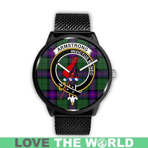 Armstrong Modern Clan Badge Tartan Leather/steel WATCH - NN5 Mens 40Mm / Brown Leather-Steel Watches