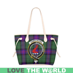 Armstrong Modern Tartan Handbag - Tartan Clan Badge Large Leather Tote Bag Nn5