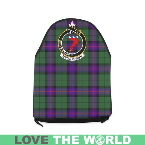 Armstrong Modern Tartan Clan Badge Crossbody Bag C20 Bags