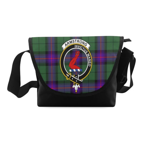 ARMSTRONG MODERN TARTAN CLAN BADGE CROSSBODY BAG NN5