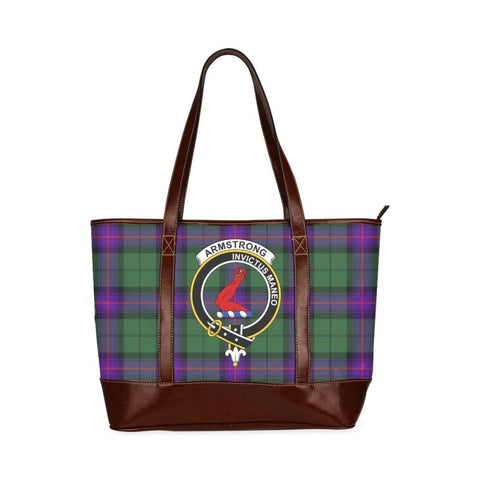 Armstrong Tartan Clan Badge Tote Handbag Hj4 Handbags