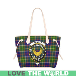Arnott Tartan Handbag - Tartan Clan Badge Large Leather Tote Bag Nn5