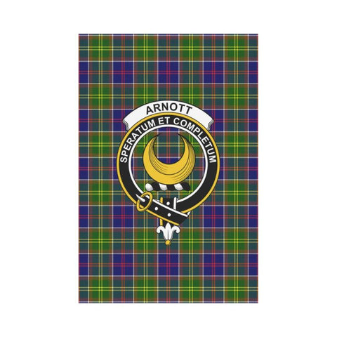 Arnott Tartan Flag Clan Badge