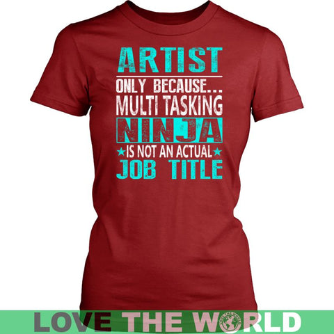 Image of Artist T-Shirt A9 District Unisex Shirt / Red S T-Shirts