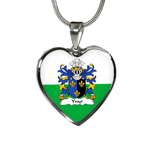 Ynyr (Gwent, King Of) Wales Heart - Shaped (Necklace/Bangle) A9