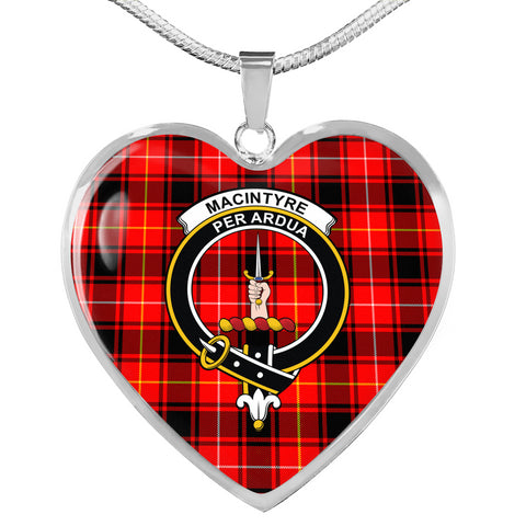 MacIntyre Modern Tartan Heart Necklace