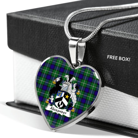 Alexander Tartan Crest Heart Necklace