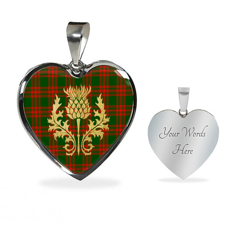 Tartan Heart Necklace