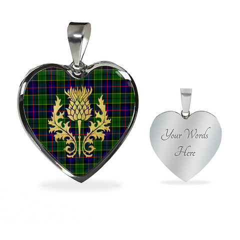 Image of Tartan Heart Necklace