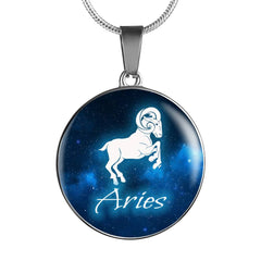 Zodiac Circle ( Necklace/Bangle ) - Aries Sign A1