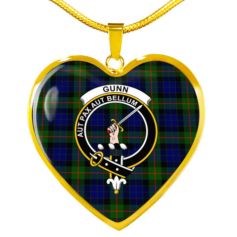 Gunn Modern Tartan Crest Heart Necklace HJ4
