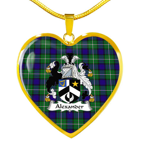 Tartan Crest Heart Necklace