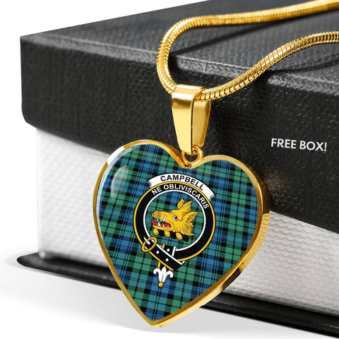 Campbell Ancient 01  Tartan Customize Necklace