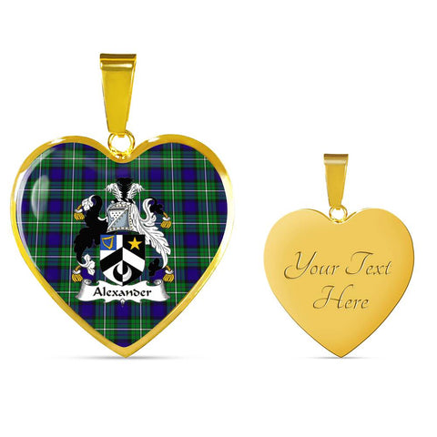Alexander Tartan Crest Heart Necklace HJ4