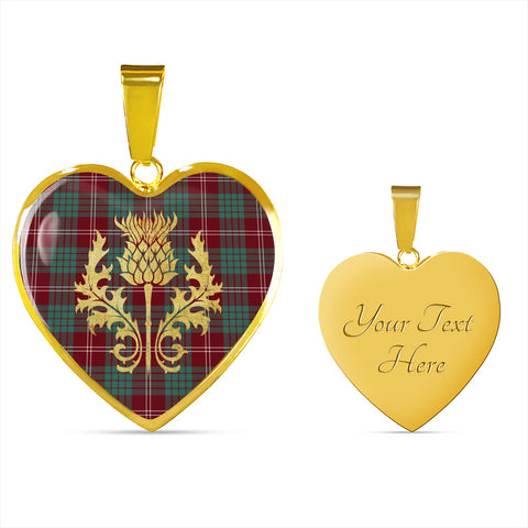 Crawford Modern Tartan Heart Necklace Thistle Gold Hj4