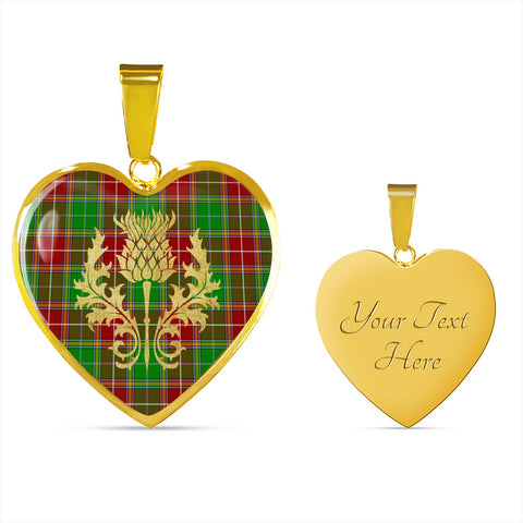 Baxter Modern Tartan Heart Necklace Thistle Gold Hj4