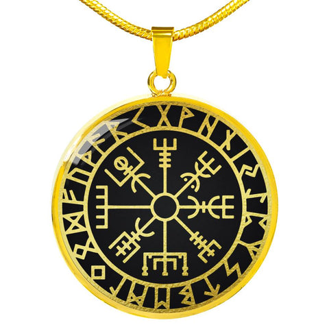 Image of Viking Vegvisir Circle Necklace | Men & Women | Accessory