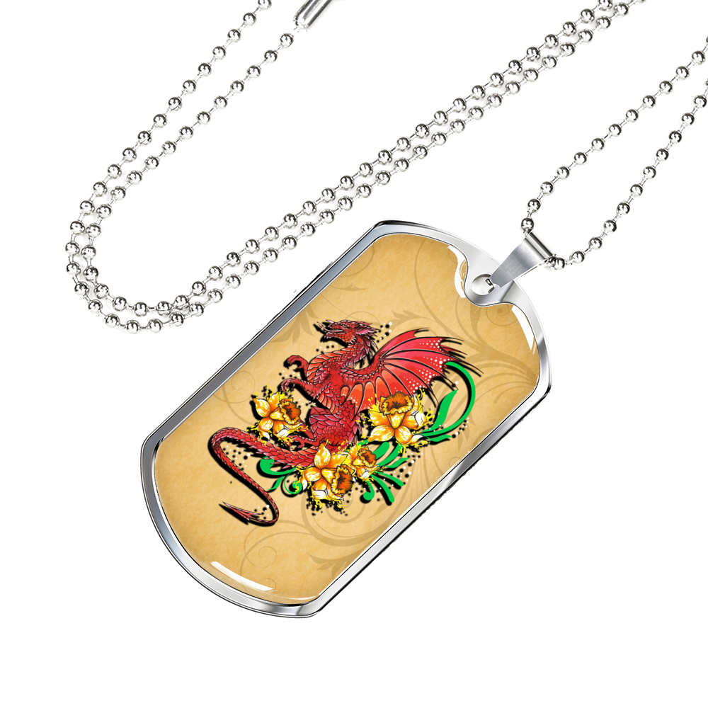 Wales Dragon Dog Tag T1 |Accessories| Love The World