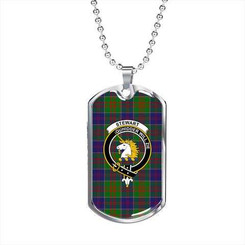 Stewart of Appin Hunting Modern Tartan Dog Tag - Tartan Clan Crest Silver/Golden Dog Tag HJ4