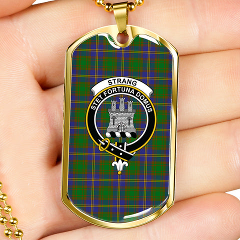 Strange of Balkaskie Tartan Dog Tag - Tartan Clan Crest Silver/Golden Dog Tag HJ4