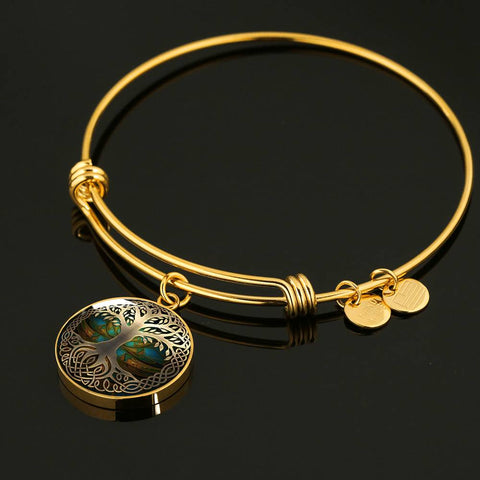 Celtic Circle Bangle - Luxury Golden Celtic Tree | HOT Sale