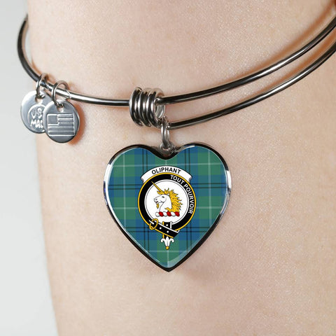 Oliphant Ancient Tartan Silver Bangle - Bn04