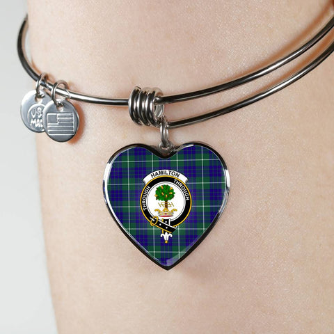 Image of Hamilton Hunting Modern Tartan Silver Bangle - Bn04