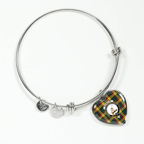 Image of Macmillan Old Modern Tartan Silver Bangle - Bn04