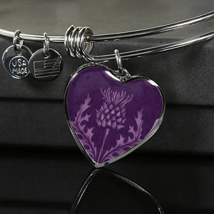 Scotland Bangle - Scottish Thistle Purple Edition A7