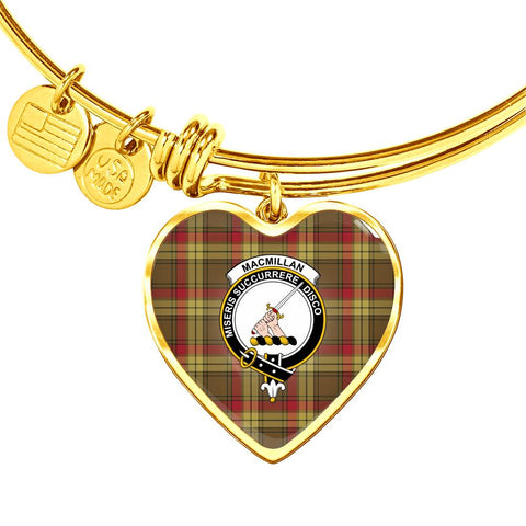 Macmillan Old Weathered Tartan Golden Bangle - Bn04