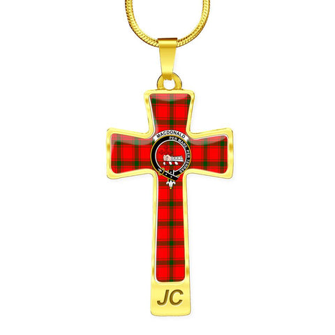 Macdonald (Of Sleat) Tartan Jewelry - Cross Necklace |Accessories| Love The World