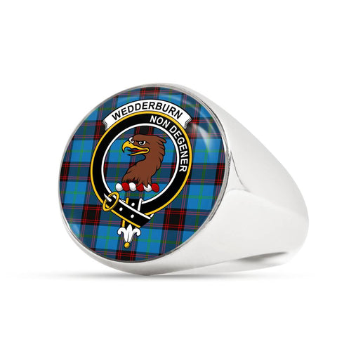 Wedderburn Tartan Crest Ring Th8