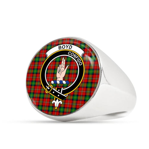 Image of Boyd Ancient Tartan Crest Ring Th8