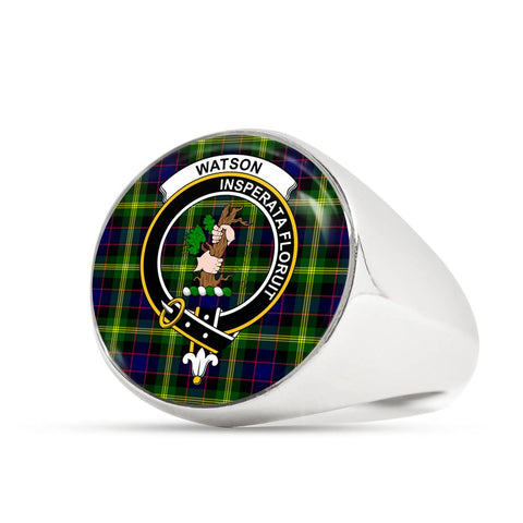Image of Watson Modern Tartan Crest Ring Th8